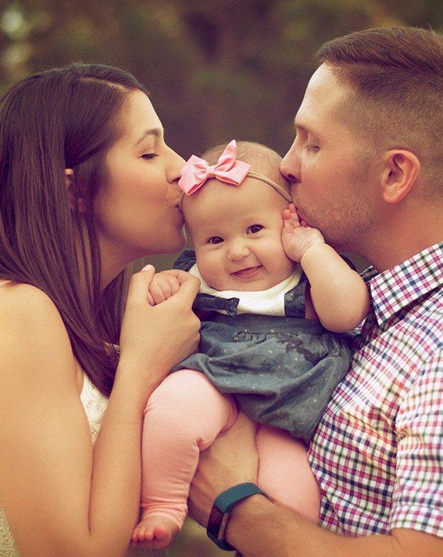 family representing life insurance